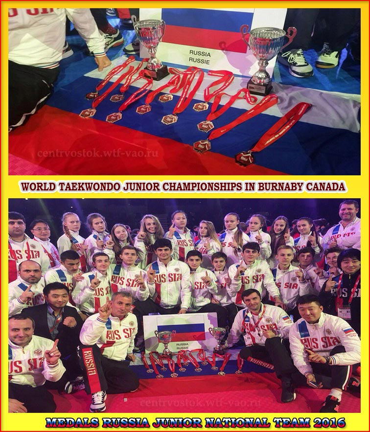 Taekwondo Junior Russia Team 2016
