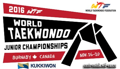 2016 World Taekwondo Junior Championships in Burnaby, Canada